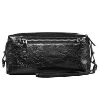 皮客优一男士手拿包大容量PU手包商务休闲褶皱软皮手抓包拉链钱包