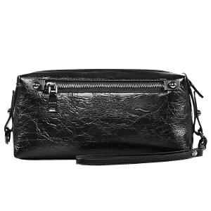 【可礼品卡支付】皮客优一男士手拿包大容量PU手包商务休闲褶皱软皮手抓包拉链男士包包