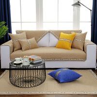 棉彩色沙发垫布艺坐垫清新条纹四季通用防滑简约时尚沙发巾定做
