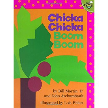 Chicka Chicka Boom Boom 叽喀叽喀碰碰【英文原版童书 廖彩杏推荐、幼儿启蒙认知读物、让26个字母鲜活起来】