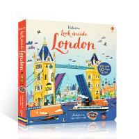 【全店300减110】英文原版Usborne尤斯伯恩图书 Look Inside London 看看里面:伦敦 儿童启蒙