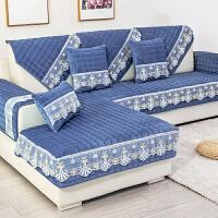 冬季沙发垫北欧毛绒皮防滑坐垫子加厚四季通用一套全包套罩巾