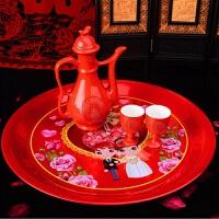 结婚陶瓷小酒杯 酒壶酒具套装 红色双喜敬酒对杯婚庆交杯小号酒盅
