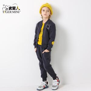 小虎宝儿童装男童套装秋款2018新款儿童运动两件套新品