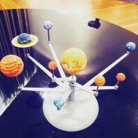 太�系模型 太�地球月亮三球�x�和��W生手工日地月�\行�x太�系太空行星模型 ��I一套�E�