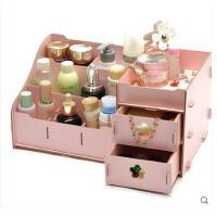 大号多层抽屉式木质桌面化妆盒韩版创意DIY护肤品收纳整理盒 可礼品卡支付