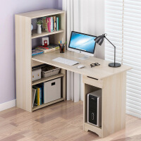 【一件3折】简易电脑桌台式桌家用转角书桌书柜一体组合简约学生写字台经济型