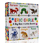 进口英文原版The World of Eric Carle: Big Box of Little Books 9册手掌
