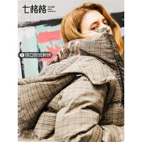 短款羽绒服女白鸭绒韩版2018新款时尚欧货冬款宽松连帽加厚外套潮