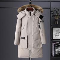 户外工装棉衣男中长款多口袋冬季外套加绒加厚加大毛领防水冲锋衣