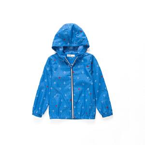 【3件3折 到手价:56.7元】水孩儿souhait童装新款风衣男童航海风衣春款外套风衣AFJCH302