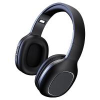 无线蓝牙耳机头戴式游戏运动跑步耳麦适用于华为P10插卡Mate10重低音9pro mate20电脑手 炫酷黑 官方标配