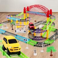 小汽车轨道车电动小火车模型套装儿童益智玩具车