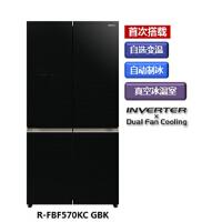 日立(Hitachi)R-FBF570KC原装进口智能变频无霜风冷电冰箱 水晶黑色