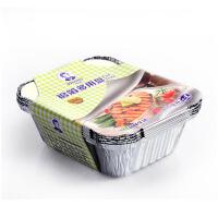 铝箔锡纸碗 锡纸盒烧烤烘焙锡纸盘 打包盒一次性餐盒