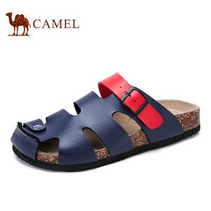 骆驼牌男鞋 新品日常时尚休闲轻便包头舒适沙滩凉拖鞋