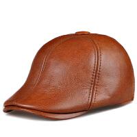 帽子男士中老年帽子贝雷帽保暖冬加厚鸭舌帽前进帽