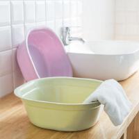 方形加厚脸盆婴儿儿童洗浴盆厨房塑料大号洗菜盆浴室洗脸盆