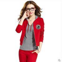 韩版运动套装女式大码三件套 女装外套 卫衣长袖休闲服