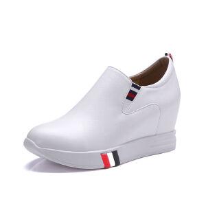 ELEISE美国艾蕾莎春季上新003-V119韩版内增高女士乐福鞋
