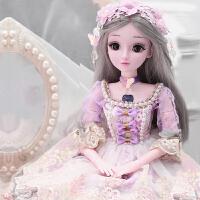 60厘米芭比洋娃娃套装女孩大号公主单个仿真精致生日礼物