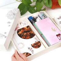 古风笔记本文具胶带套装 初高中生学习大礼包 小清新生日礼物礼盒