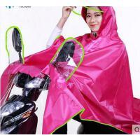 时尚简约大帽檐电动车摩托车单人雨衣加厚牛津防水头盔式自行车雨披 可礼品卡支付