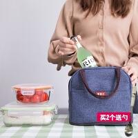 保温便当包手提包韩国小清新饭盒包保温袋铝箔加厚带饭包饭盒袋子
