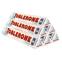 Toblerone瑞士三角 亿滋进口 白巧克力含蜂蜜及巴旦木糖100g*6条 (瑞士进口)  休闲零食