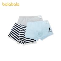 【2件5折价:25】巴拉巴拉男童内裤平角裤棉儿童短裤中大童宝宝亲肤 舒适3条装