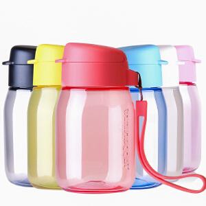 特百惠新款 嘟嘟企鹅杯350ml随手杯便携防漏时尚学生儿童女塑料水杯 多色可选