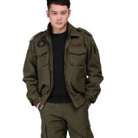 户外军迷野战服饰男装 美空军101空降师 单飞行夹克外套