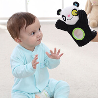 jollybaby 安抚手偶 婴幼儿3个月+动物手套可咬布偶带响铃