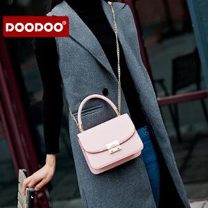 【支持礼品卡】DOODOO 链条包包女2018新款潮迷你韩版女包百搭手提单肩斜挎小方包 D6179