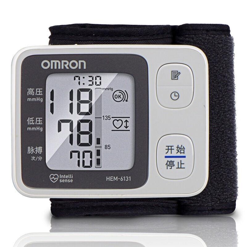 欧姆龙(OMRON)血压计手腕式家用血压仪电子血压计HEM-6131脉搏提示 60组记忆值 全智能加压