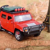 仿真合金悍马皮卡合金车模型 儿童声光回力越野玩具汽车