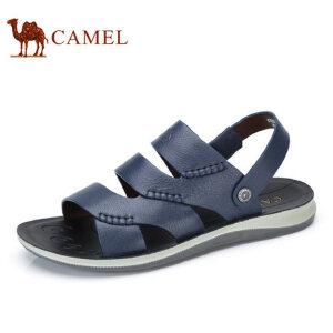camel骆驼男鞋  夏季新品 牛皮凉鞋休闲清爽透气两用转换凉鞋
