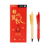 包邮一盒爱好中性笔8762水笔大容量签字笔0.5全针管笔芯笔杆一体