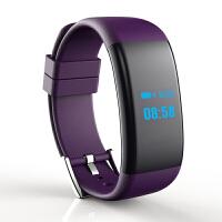 心率血压血氧疲劳度智能手环游泳防水运动提醒手表 紫