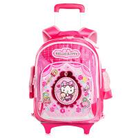 Hello Kitty 凯蒂猫 儿童拉杆箱包带防雨罩小学生拉杆书包661047