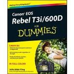 【预订】Canon EOS Rebel T3i / 600D For Dummies