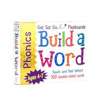 【首页抢券300-100】Get Set Go Phonics Flashcard build a Word 4-7岁自