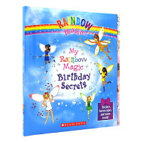 My Rainbow Magic Birthday Secrets 彩虹仙子生日秘密 送笔 儿童活动书 英文原版进口图