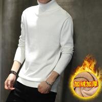 男士毛衣高领2018新款冬季加绒加厚线衣韩版打底衫宽松针织衫潮流