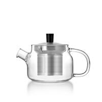 尚明耐热玻璃茶壶功夫茶具304不锈钢内胆过滤茶壶花茶泡茶壶玻璃茶具泡茶壶欧美现代泡花茶茶壶 S048A 透明手把