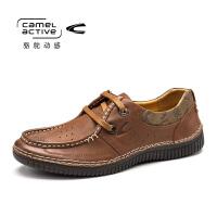 Camel Active/骆驼动感春新新款款男士真皮日常休闲皮鞋系带男鞋