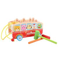 婴幼儿童打地鼠玩具拖车益智