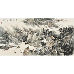 河北省美术家协会会员 张晓《林谷清幽》gx0017