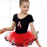 儿童舞蹈服装练功服女童短袖芭蕾裙幼儿春夏季纱裙蓬蓬裙亮片绣花芭蕾舞服