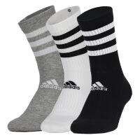 幸运叶子 阿迪达斯袜子男袜女袜新款三双装中筒袜休闲运动袜DZ9345
